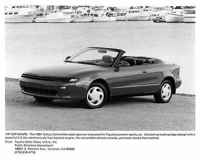1991 Toyota Celica Convertible Automobile Photo Poster zm2606