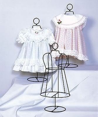 """Infant Size Wire Dress Form Collectible Shelf Display Home Decor 18"""" Tall"""
