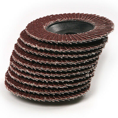 "New 10-pc. Sanding Flap Oxide Grinding Discs 80 Grit 4"" Angle Grinder"