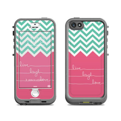 Skin for LifeProof Nuud iPhone 5S - Live Laugh Love - Sticker Decal