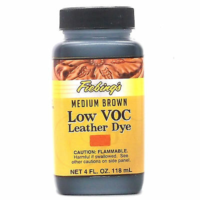 Medium Brown 4 oz. (118 mL) Fiebing Low Voc Leather Dye