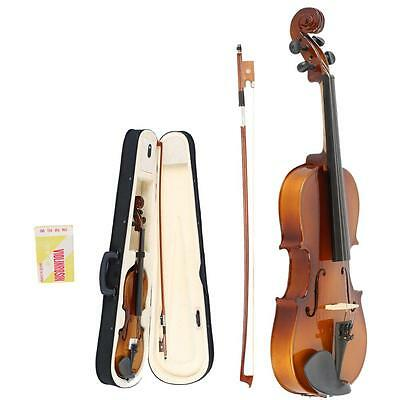 Size 3/4 Perfect Acoustic 11-12 years old kids Violin+Case+Bow+Rosin Natural