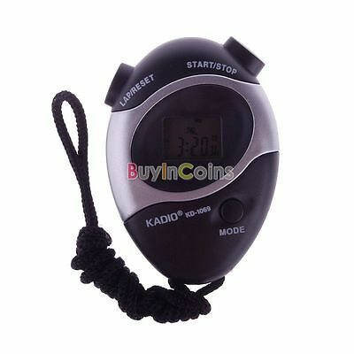 Waterproof Second Chronograph Timer Stopwatch Sport Counter Digital Odometer #