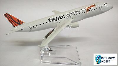16cm 1:230 Tiger Airway A320 Airplane Aeroplane Diecast Metal Plane Toy Model