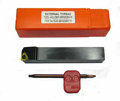 Rdgtools 10Mm External Indexable Lathe Threading Tool 60 Degree Metric Thread