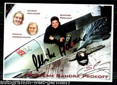 Sandra Prokoff,Ulrike Holzner TOP AK Sign. +A 10004 + A 66338