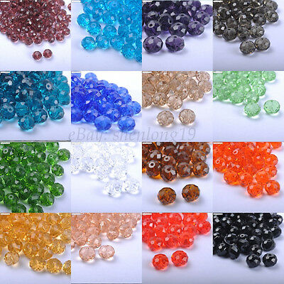 FREE SHIP Top Quality Czech Faceted Glass Spacer Loose Beads 6MM 8MM 10MM