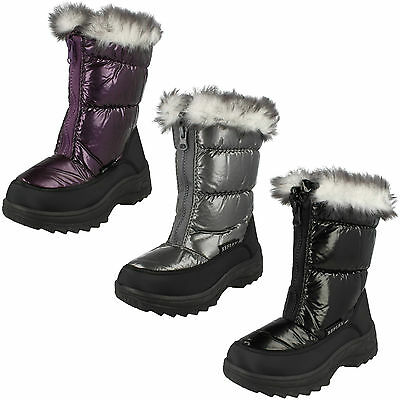 WHOLESALE Girls Snow Boots / Sizes 12x5 / 18 Pairs / H4071