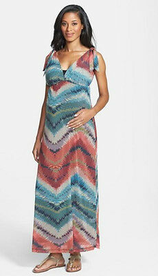 New 2 Pc JAPANESE WEEKEND MATERNITY Trendy Nursing MAXI DRESS Lot S 6/8 $108