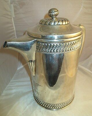 WWII Navy Eagle Captain Mess Silver Soldered Holloware Water Coffee Pitcher R&B