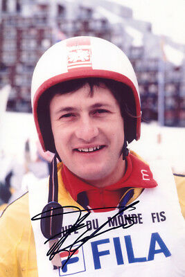 Franz Klammer, skiing legend, Winter Olympics, signed 12x8 photo. Proof. COA.
