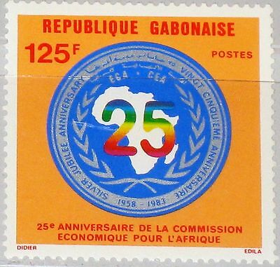 GABON GABUN 1983 864 535 25th Ann UN Economic Commission for Africa Emblem MNH