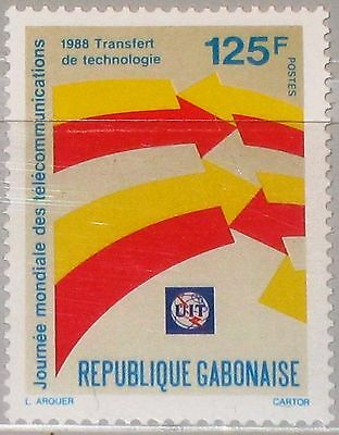 GABON GABUN 1988 1016 644 World Telecommunications Day Weltfernmeldetag MNH