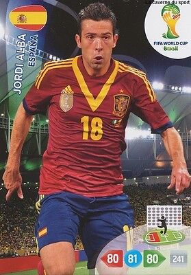 N°145 Jordi Alba # Espana Panini Card Adrenalyn World Cup Brazil 2014