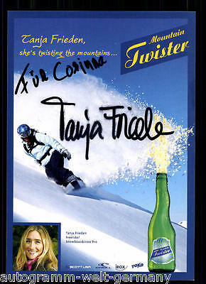 Tanja Frieden Snowboard TOP AK Orig. Sign.+ 70230 +A 67000