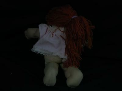 VINTAGE 1982 CABBAGE PATCH KIDS RED HAIR BLUE EYES PINK DRESS REDHED DOLL PLUSH