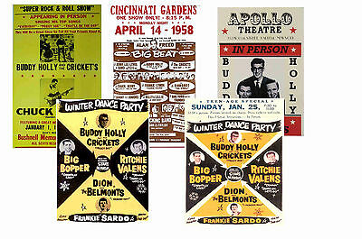 Buddy Holly - Set Of 5 - A4 Poster Prints # 1