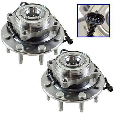 Front Wheel Hub & Bearing Pair Set for Chevy GMC Pickup Truck 8 Lug 4X4 4WD ABS