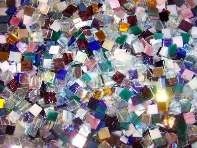 Mini Iridescent and Mirror Color Mix Stained Glass Mosaic Tiles