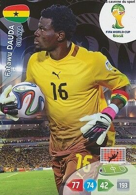 N°170 Fatawu Dauda # Ghana Panini Card Adrenalyn World Cup Brazil 2014