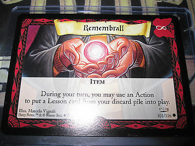 Harry Potter Trading Card Game Tcg Remenbrall Promo Rare English Mint 101/116
