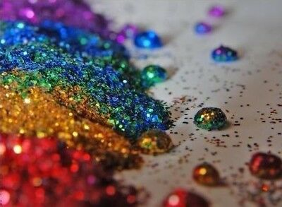 Holographic Wine Glass Decorating Craft Glitter Metallic Iridescent Dust Powder