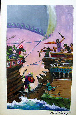 Richard Hescox Book Cover Preliminary Painting Fires Of Scorpio