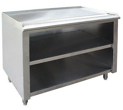 """Stainless Steel Tea Urn Cabinet 24x36 1"""" Lip Up 1"""" Drain Outlet TUT-36-24W NSF"""
