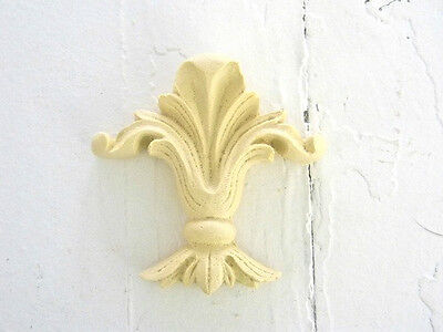FURNITURE ARCHITECTURAL APPLIQUES FLEUR de LIS-WOOD & RESIN-STAINABLE-PAINTABLE