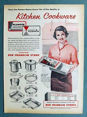 Original 1956 Alcoa Kitchen Cookware Ad  Sold at Ben Franklin Stores