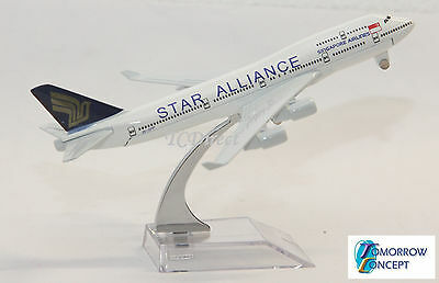 16cm 1:450 Star Alliance Singapore Airline 747 Airplane Diecast Plane Toy Model