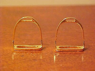 RDLC English Stirrups (without Treads) in Traditional 1:9 Model Horse Scale GOLD
