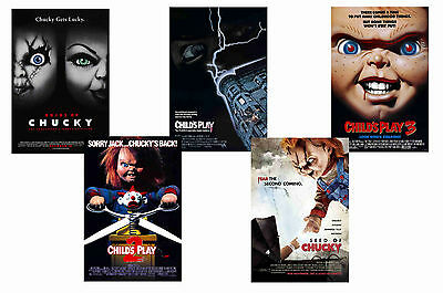 Childs Play - Set Of 5 - A4 Film Poster Prints # 1