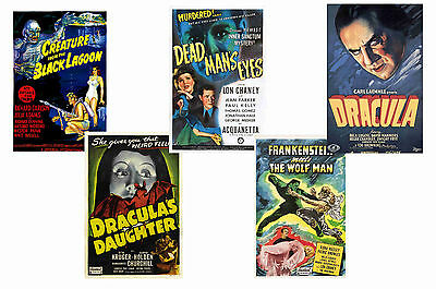 Universal Horror - Set Of 5 - A4 Film Poster Prints # 4