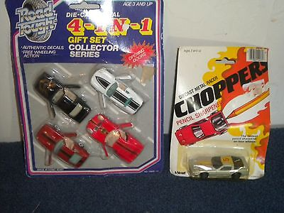 ROAD TOUGH 4 IN 1 DIE CAST CARS & METAL RACER PORSCHE LARAMI NEW IN PACKAGE