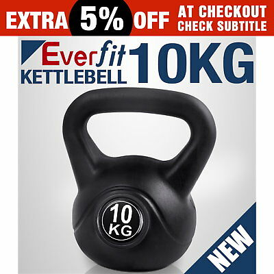 Kettle Bell Everfit 10KG Training Weight Fitness Gym Exercise Kettlebell Dumbell