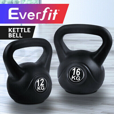 Everfit 12KG/16KG Kettle Bell Kit Weight Kettlebell Fitness Exercise Home Gym