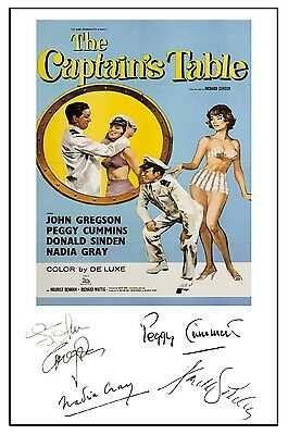 British Comedy - The Captains Table - Cast Signed (Pre Printed) A4 Poster