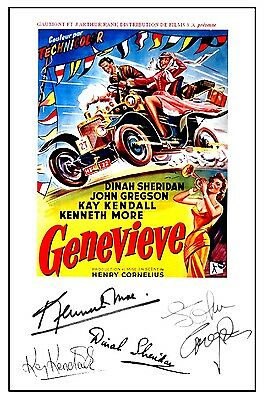 British Classic - Genevieve - Cast Signed (Pre Printed) A4 Poster