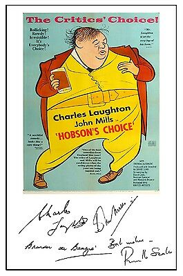 British Classic - Hobsons Choice - Cast Signed (Pre Printed) A4 Poster