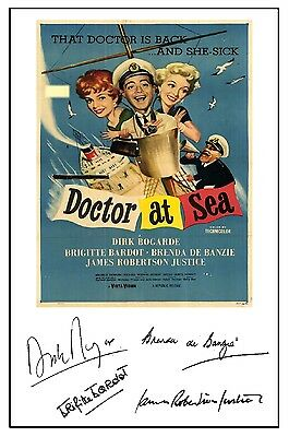 Doctor At Sea - Cast Signed (Pre Printed) A4 Poster