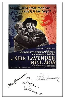 The Lavender Hill Mob - Cast Signed (Pre Printed) A4 Poster