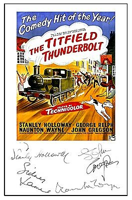 The Titfield Thunderbolt - Cast Signed (Pre Printed) A4 Poster