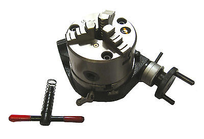 """Rdgtools New  100Mm / 4"""" Rotary Table With 3 Jaw Lathe Chuck Horizontal Vertical"""
