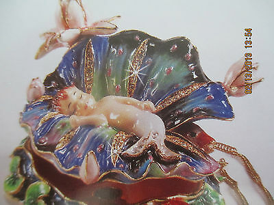 THE CRADLE ~by SHEILA WOLK ~ BEJEWELED TRINKET BOX &  NECKLACE #65101