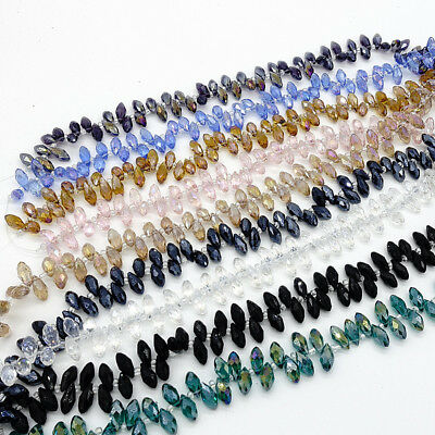 25PCS Teardrop CRYSTAL GLASS LOOSE BEADS 12*6MM Variety of colors