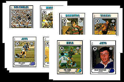 Nrl Rugby League (1976) - Gum Card/ Postcard Set # 1
