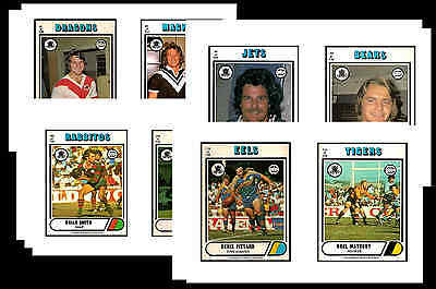 Nrl Rugby League (1976) - Gum Card/ Postcard Set # 2
