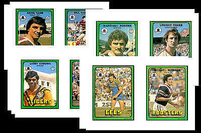 Nrl Rugby League (1978) - Gum Card/ Postcard Set # 1