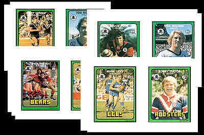 Nrl Rugby League (1978) - Gum Card/ Postcard Set # 2